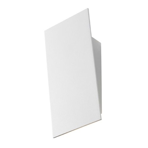 Sonneman Lighting Sonneman Angled Plane Textured White LED Sconce 2365.98