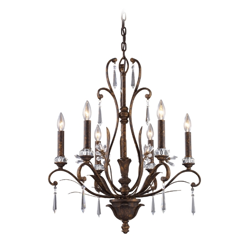 Elk Lighting Chandelier in Burnt Bronze Finish 2183/6