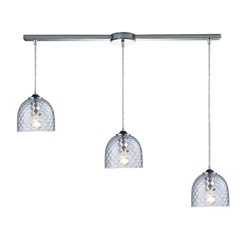 Elk Lighting Multi-Light Pendant Light with Clear Glass and 3-Lights 31080/3L-CLR