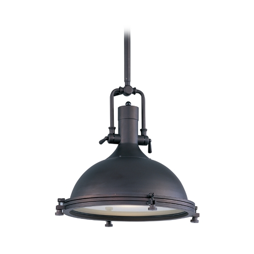 Maxim Lighting Maxim Lighting Hi-Bay Bronze Pendant Light with Bowl / Dome Shade 25109FTBZ