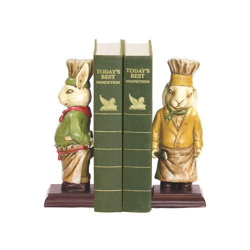 Sterling Lighting Chef Bunnies Decorative Bookends 91-2799