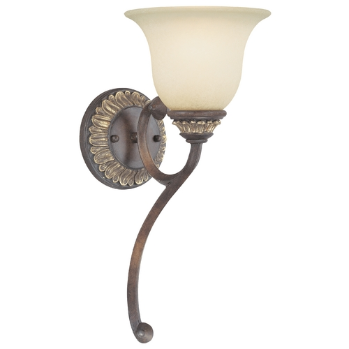 Dolan Designs Lighting Sconce with Caramelized Glass 2646-211