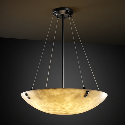 Justice Design Group Justice Design Group Clouds Collection Pendant Light CLD-9667-35-MBLK-F3