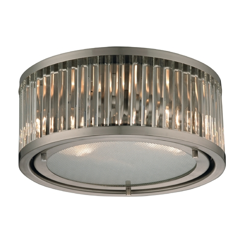 Elk Lighting Flushmount Light in Brushed Nickel Finish 46112/2