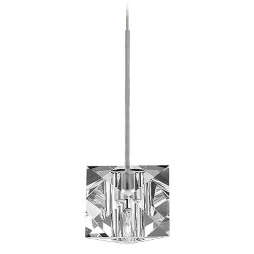 WAC Lighting WAC Lighting Crystal Collection Brushed Nickel Track Pendant QP940-CL/BN
