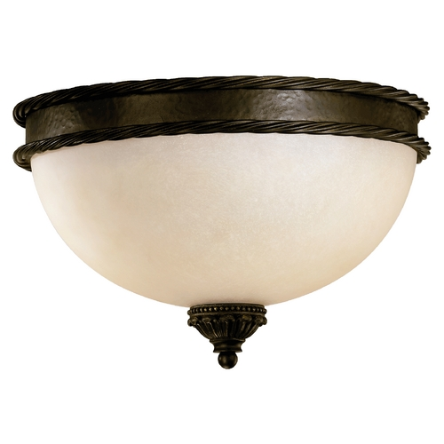 Quorum Lighting Quorum Lighting Alameda Oiled Bronze Flushmount Light 3486-15-86