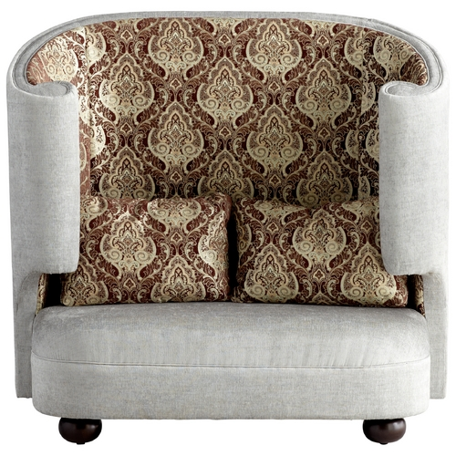 Cyan Design Cyan Design the Tunnel Of Love Grey & Patterned Fabric Chair 05556