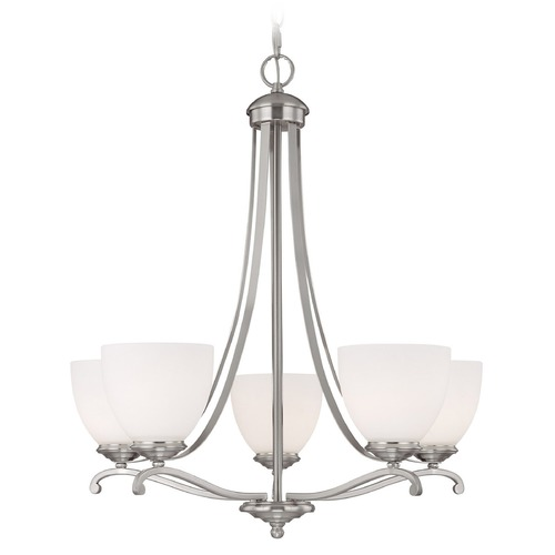 Capital Lighting Capital Lighting Chapman Matte Nickel Chandelier 3945MN-202