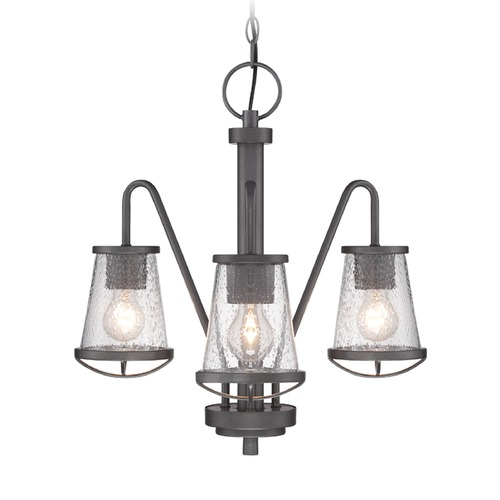 Designers Fountain Lighting Seeded Glass Chandelier Iron Designers Fountain Lighting 87083-WI