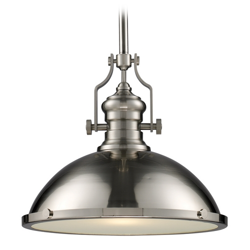 Elk Lighting Pendant Light in Satin Nickel Finish 66128-1