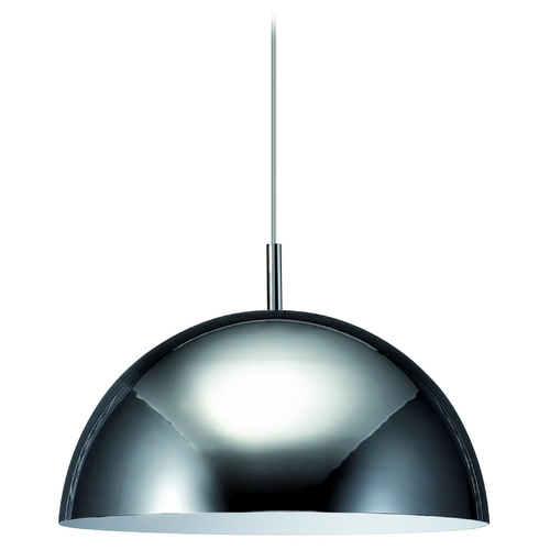 Philips Lighting Modern Pendant Light with Grey Glass in Chrome Finish 402281148