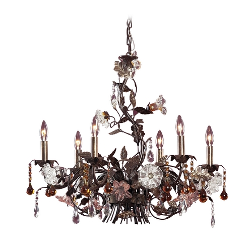 Elk Lighting Chandelier in Deep Rust Finish 85002