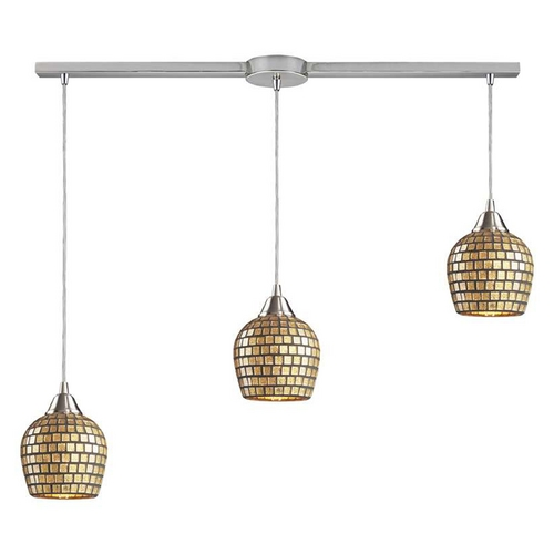 Elk Lighting Modern Multi-Light Pendant in Satin Nickel Finish 528-3L-GLD