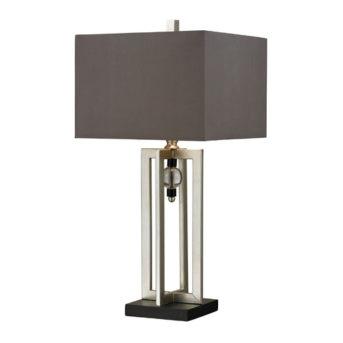 Elk Lighting Table Lamp with Silver Leaf Finish and Square Shade D228