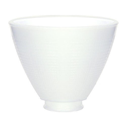 Satco Lighting White I.E.S. Glass Shade - 2-1/4-Inch Fitter Opening 50-165