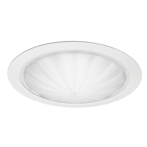 Juno Lighting Group Fluted Drop Opal Shower Trim for 6-Inch Recessed Housings 9900 WH