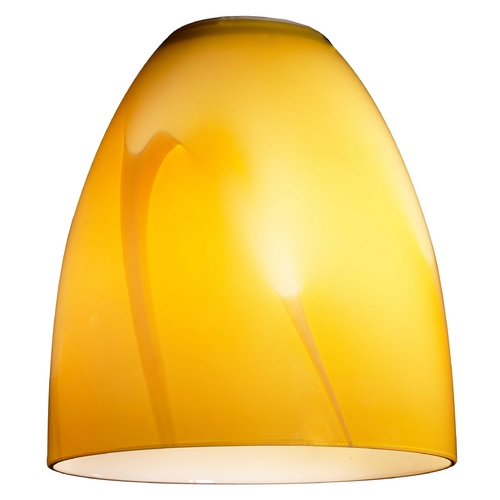 Design Classics Lighting Modern Butterscotch Bell Art Glass Replacement Shade - 1-5/8-Fitter Size GL1022MB