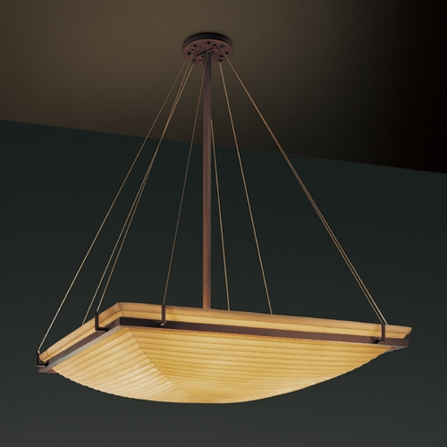 Justice Design Group Justice Design Group Porcelina Collection Pendant Light PNA-9797-25-SAWT-DBRZ