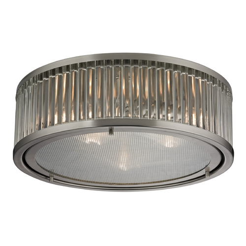 Elk Lighting Flushmount Light in Brushed Nickel Finish 46113/3