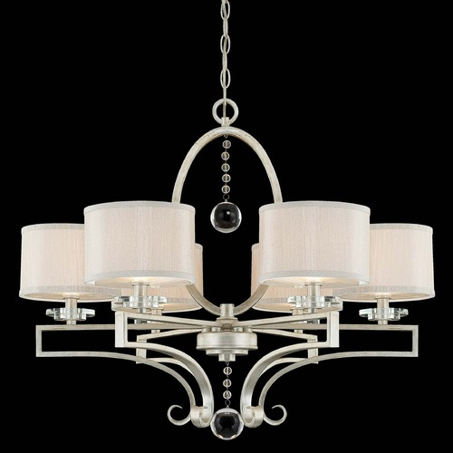 Savoy House Savoy House Silver Sparkle Crystal Chandelier 1-250-6-307