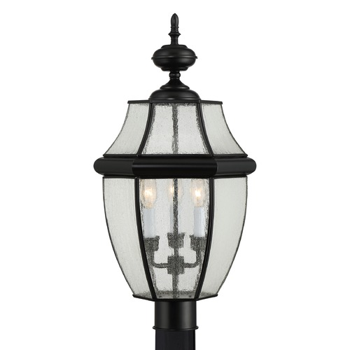 Quoizel Lighting Quoizel Newbury Mystic Black Post Light NY9012K