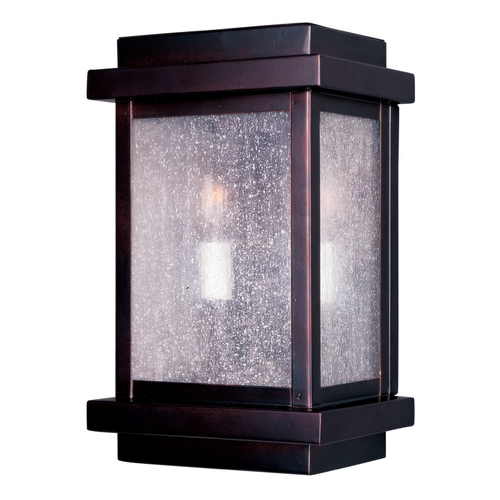Maxim Lighting Modern Outdoor Wall Light with Clear Glass in Burnished Bronze Finish 4651CDBU
