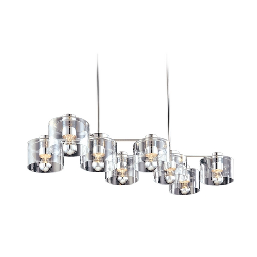 Sonneman Lighting Modern Pendant Light with Clear Glass in Polished Chrome Finish 4808.01