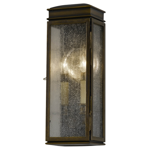 Feiss Lighting Outdoor Wall Light with Clear Glass in Astral Bronze Finish OL7400ASTB
