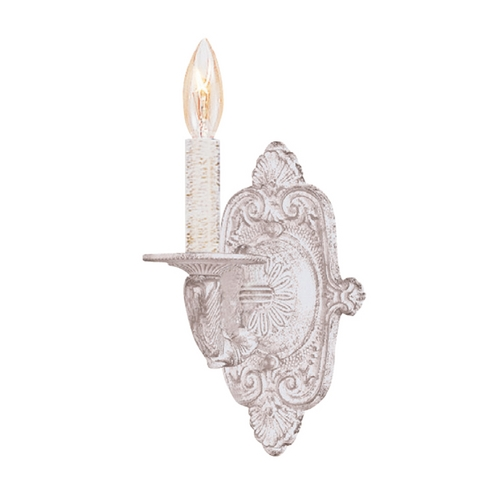 Crystorama Lighting Sconce Wall Light in Antique White Finish 5111-AW