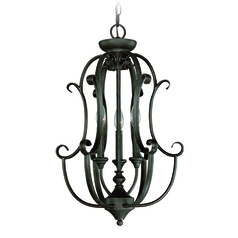 Jeremiah Barrett Place Mocha Bronze Pendant Light