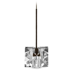 WAC Lighting Crystal Collection Dark Bronze Track Pendant