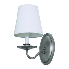 House Of Troy Lake Shore Satin Pewter Wall Lamp