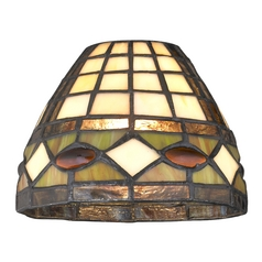 Design Classics Lighting Dome Tiffany Glass Shade - 1-5/8-inch fitter GL1044
