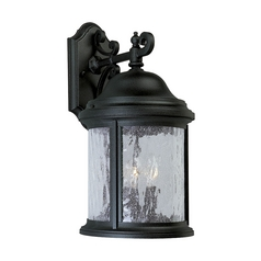 Progress Outdoor Wall Light with Clear Glass in Textured Black Finish