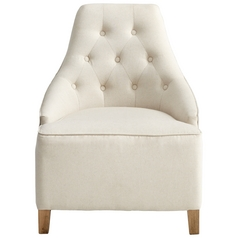 Cyan Design Ms. Analise White Linen & Patterned Fabric Chair