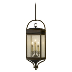 Outdoor Hanging Light with Clear Glass in Astral Bronze Finish