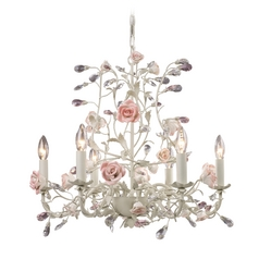 Crystal Chandelier in Cream Finish