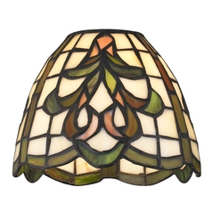 Design Classics Lighting Dome Tiffany Glass Shade - 1-5/8-inch fitter GL1045