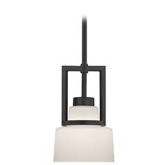 Modern Mini-Pendant Light with White Glass