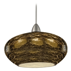 Wac Lighting Artisan Collection Brushed Nickel LED Mini-Pendant with Bowl / Dome Sh
