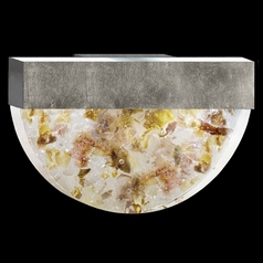 Fine Art Lamps Crystal Bakehouse Silver Leaf Sconce