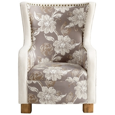 Cyan Design J. P. Buttercup Grey & Patterned Fabric Chair