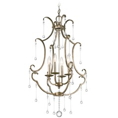 Kichler Shelsley 4-Light Mini Chandelier in Sterling Gold