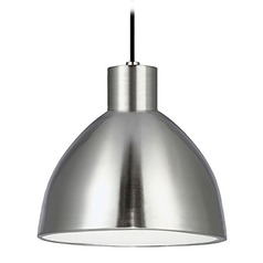 Farmhouse Brushed Nickel LED Pendant 3000K 920LM