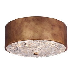 Feiss Lighting Dori Antique Burnished Brass Flushmount Light