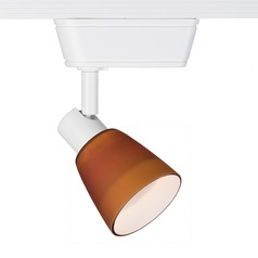 WAC Lighting White Track Light with Amber Shade H-Track 3000K 450LM