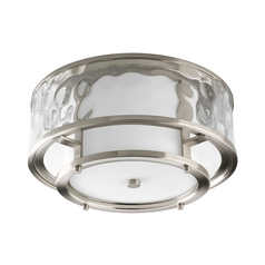 Progress Modern Flushmount Light with Clear Glass