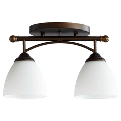 Quorum Lighting Brooks Oiled Bronze Semi-Flushmount Light