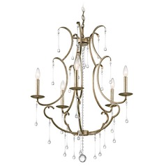 Kichler Shelsley 5-Light Chandelier in Sterling Gold