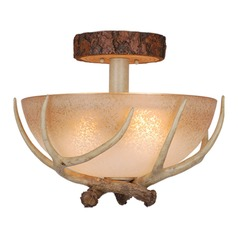 Lodge Noachian Stone Semi-Flushmount Light by Vaxcel Lighting